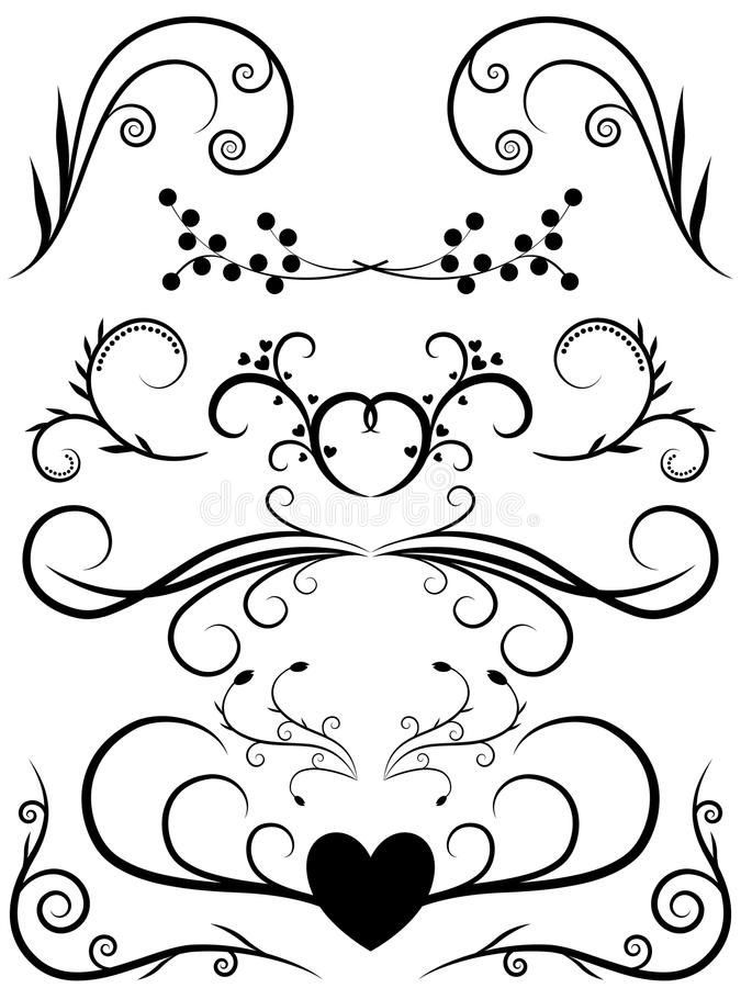 Floral Elements stock illustration