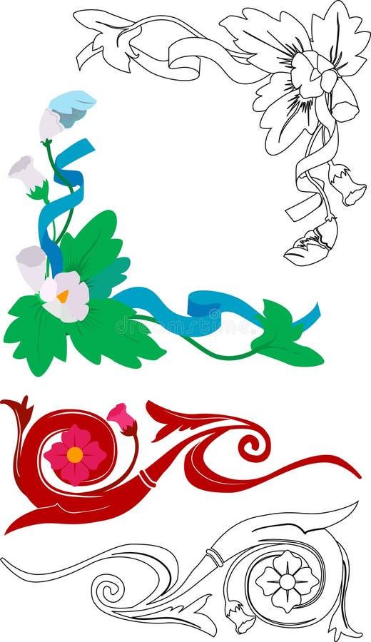 Floral elements royalty free illustration