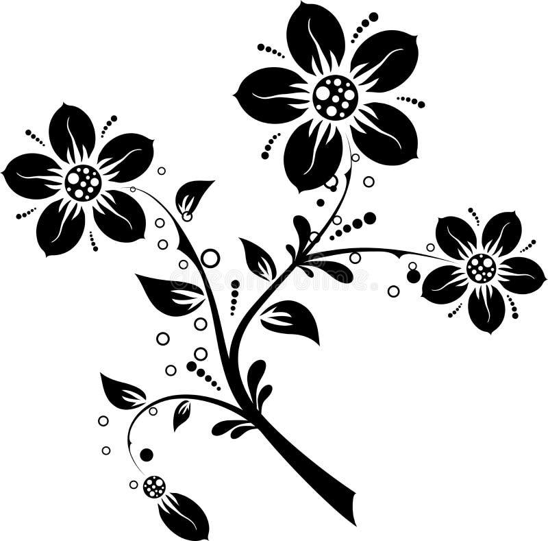 Floral elements for design, vector illustration