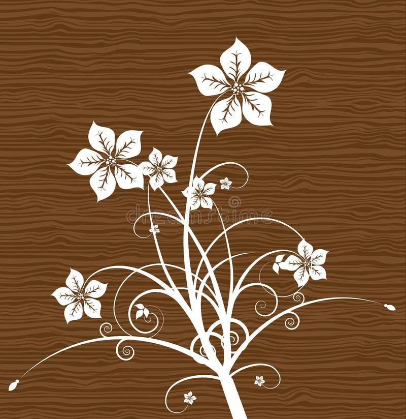 Floral en la madera. Vector. libre illustration