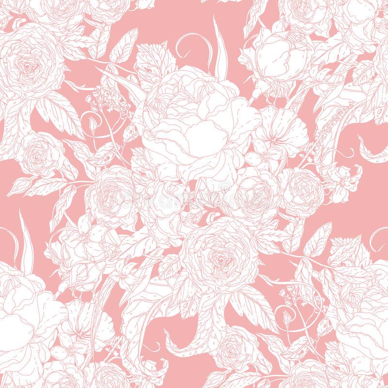 Floral en pastel de vecteur illustration de vecteur