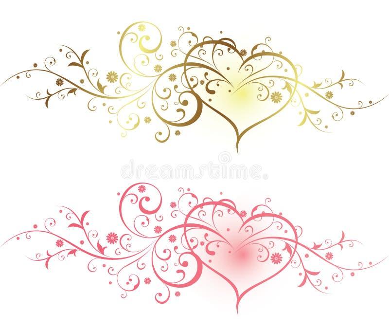 Floral et coeur illustration libre de droits