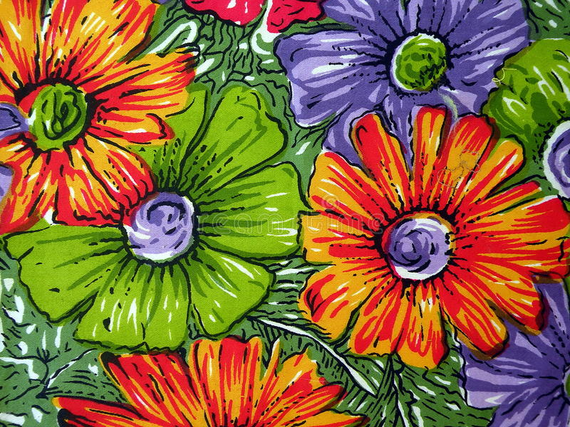 Floral fabric royalty free stock photography