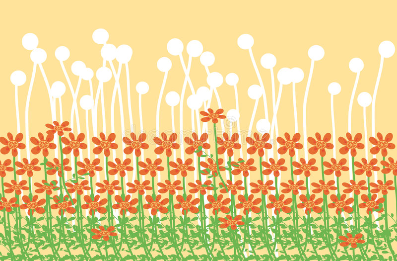 Floral field stock photo