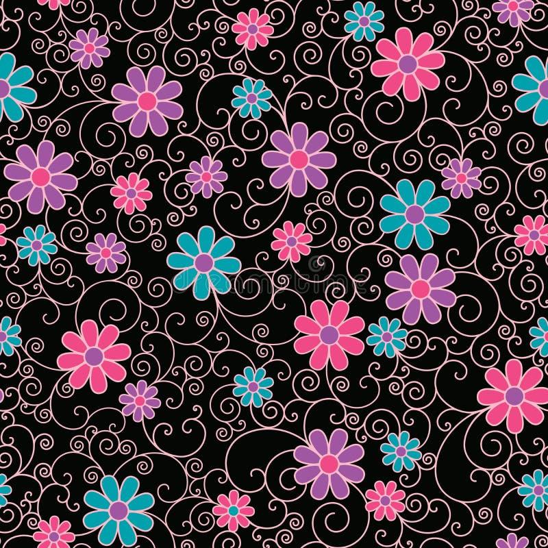 Floral Filigree Pattern vector illustration