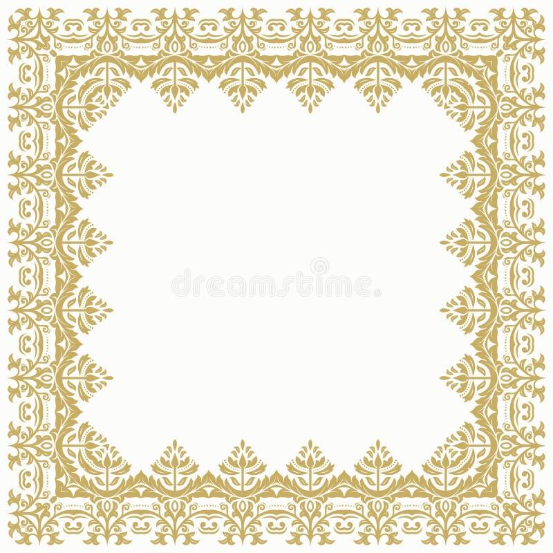 Floral Fine Frame vector illustration