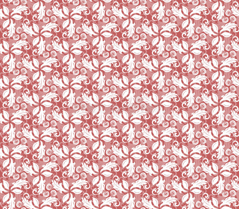 Floral Fine Seamless Vector Red Pattern royalty free illustration