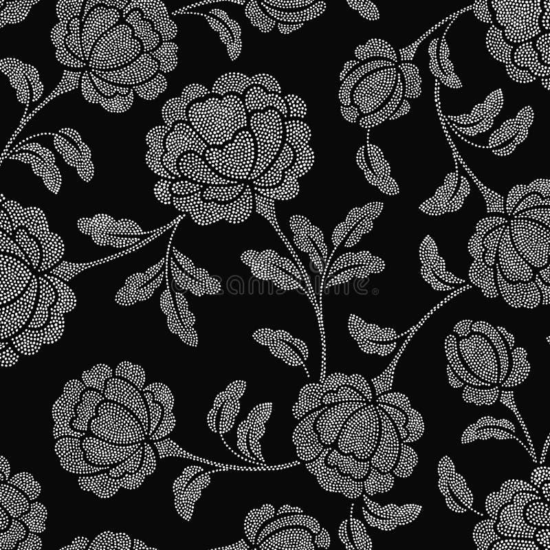 Floral fleuri d'endroit illustration de vecteur