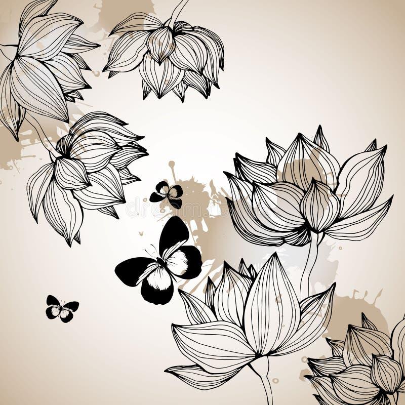 Floral, fleurissez, vous êtes levé, jaillissez, été, fond, botanique, jardin photo libre de droits