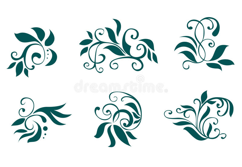 Download Floral And Flower Decorations Stock Vector - Illustration of curly, design: 11605225
