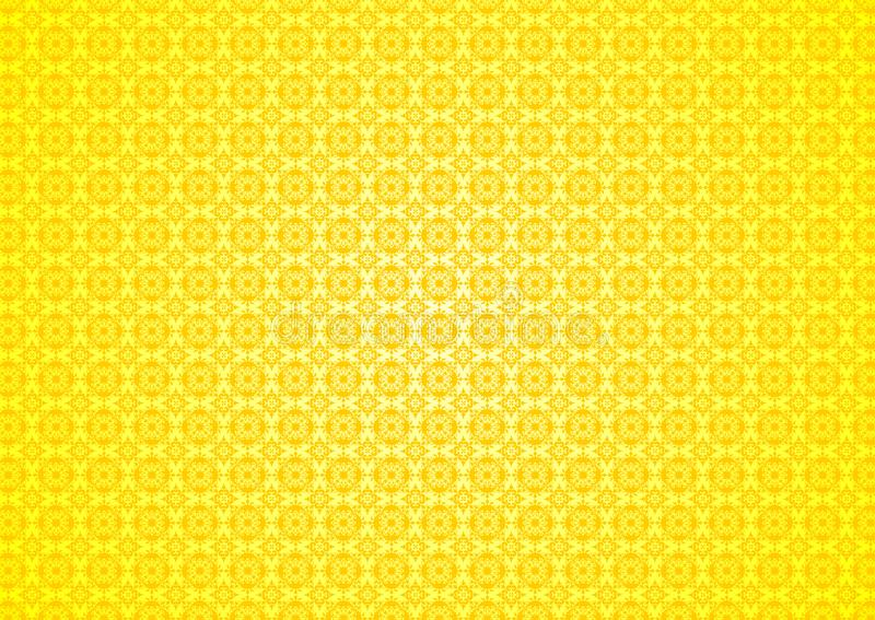 Download Yellow Floral Vintage Oriental Ornamental Chinese Arabic Islamic Imlek Ramadan Festival Pattern Texture Background Wallpaper