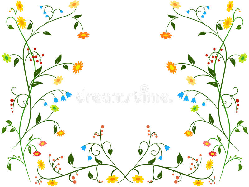 Download Floral flower ornament stock vector. Illustration of meadow - 15710322