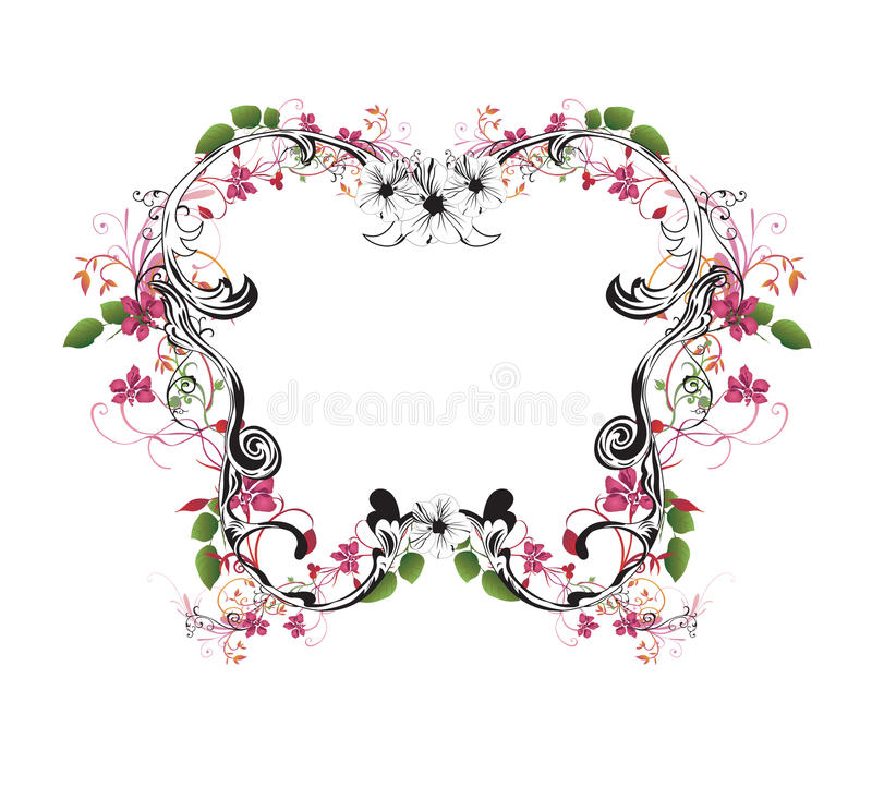 Download Floral frame stock vector. Image of frame, abstract, graphic - 10448603