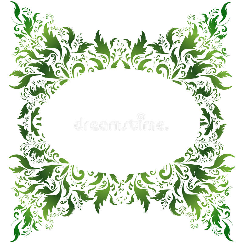 Download Floral frame stock vector. Image of flower, green, oval - 13125536