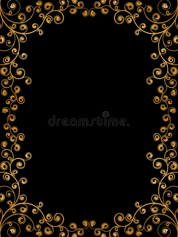 Download Floral frame stock vector. Image of gold, ornament, decorative - 13263351