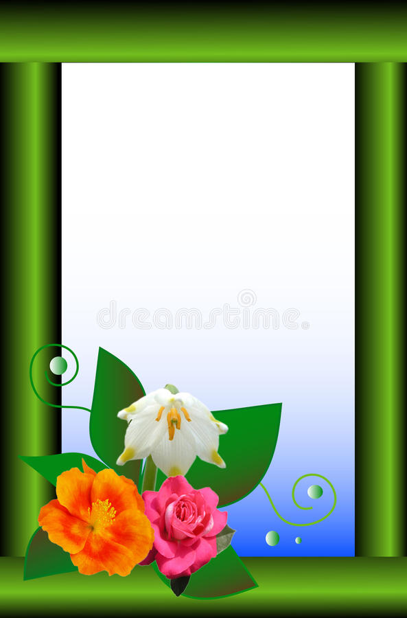 Download Floral frame stock illustration. Image of layout, communicate - 13345111