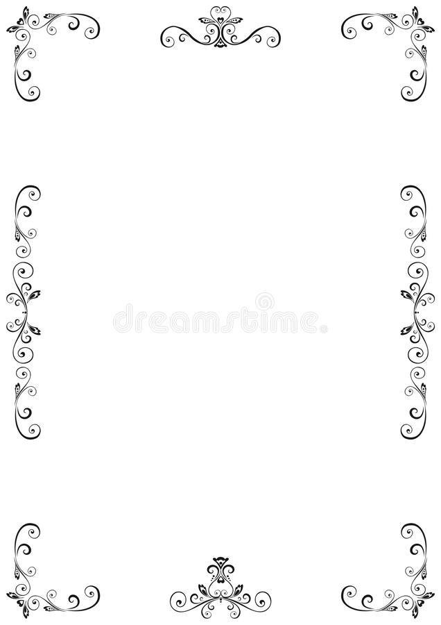 Download Floral Frame stock vector. Image of decorative, emblem - 17165510