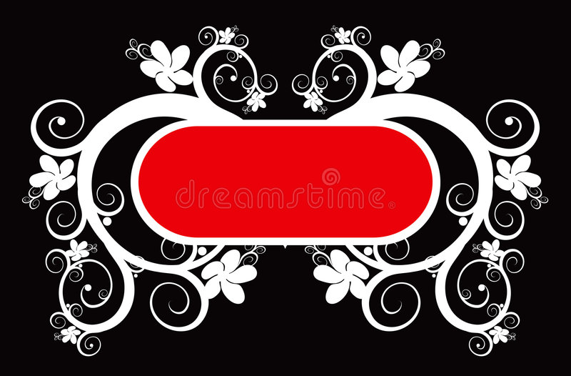 Download Floral frame stock vector. Illustration of beauty, curve - 1718980