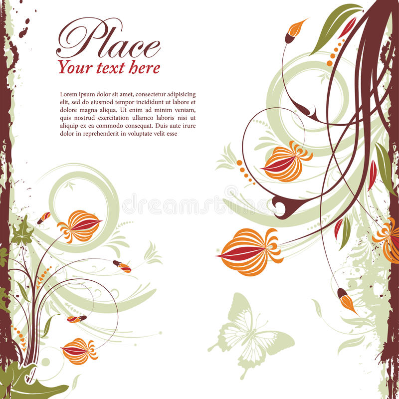 Download Floral frame stock vector. Illustration of butterfly - 19171501