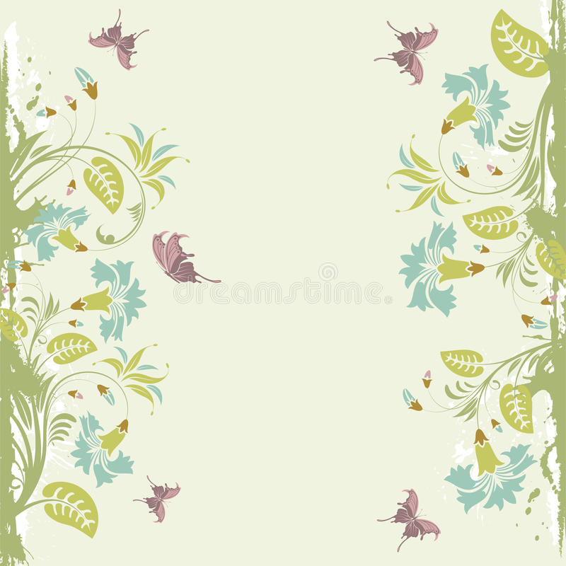 Download Floral frame stock vector. Illustration of flower, foliage - 19909504
