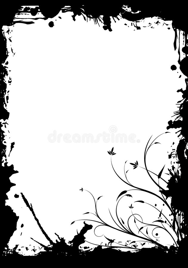 Floral frame stock illustration