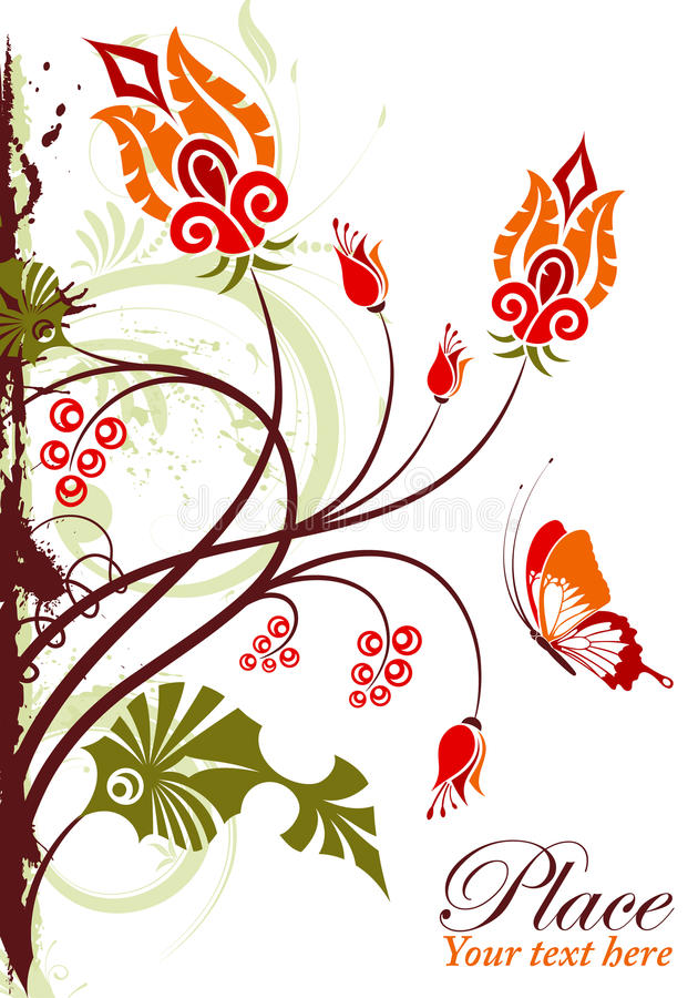 Download Floral frame stock vector. Illustration of orange, nature - 20949026