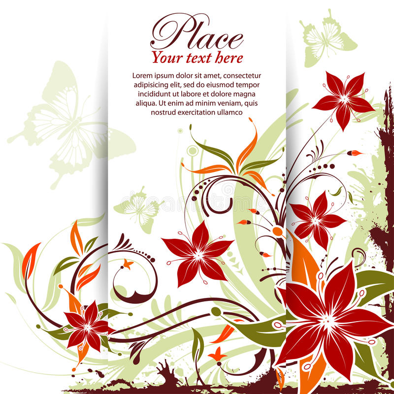 Download Floral frame stock vector. Image of flourishes, flower - 21214901
