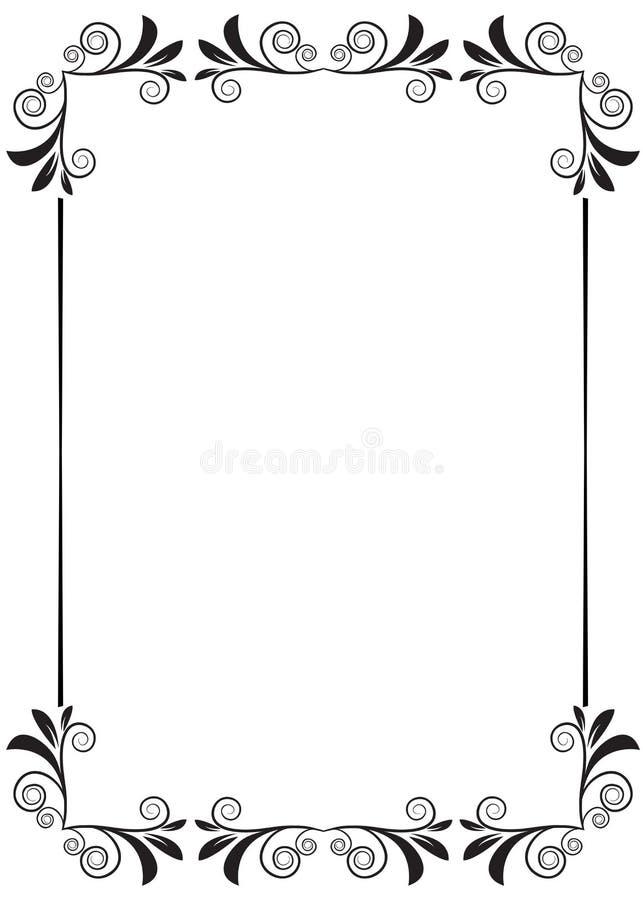 Floral frame. Illustration of floral frame design isolated on white background stock illustration
