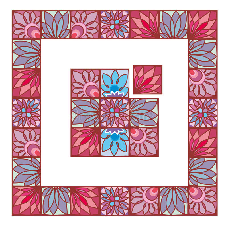 Download Floral frame stock vector. Illustration of contour, greeting - 24198926