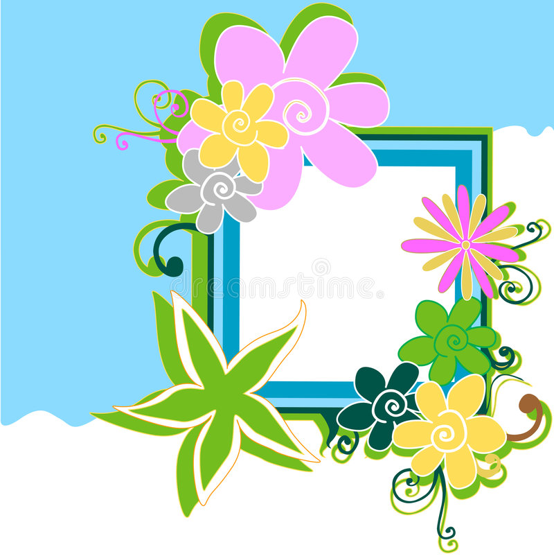 Free Floral Frame Stock Photo - 5126530