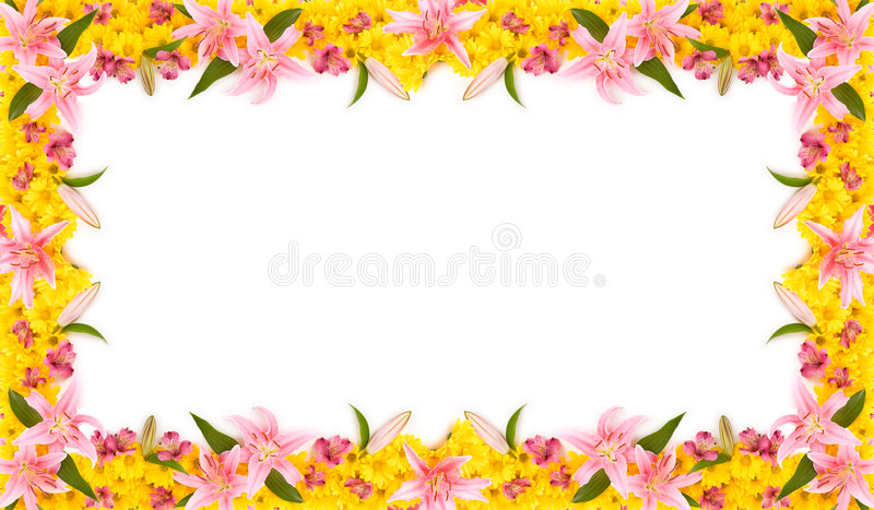 Floral Frame. This is a colorful floral frame. Could be used as a billboard or a card stock photo