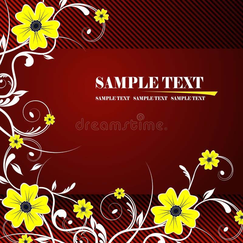 Floral frame. Illustration, red vector floral frame royalty free illustration