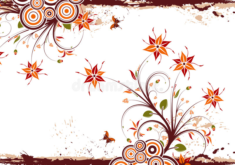Download Floral frame stock vector. Image of branch, flourishes - 6404925