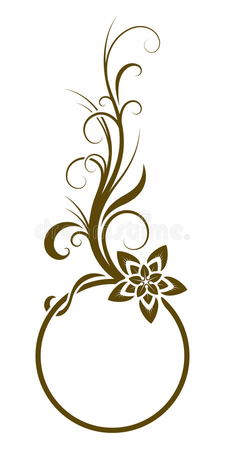 Download Floral frame stock vector. Image of fashioned, graphic - 6951482