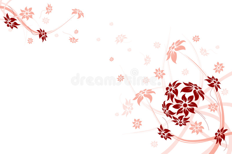 Floral frame royalty free stock photo