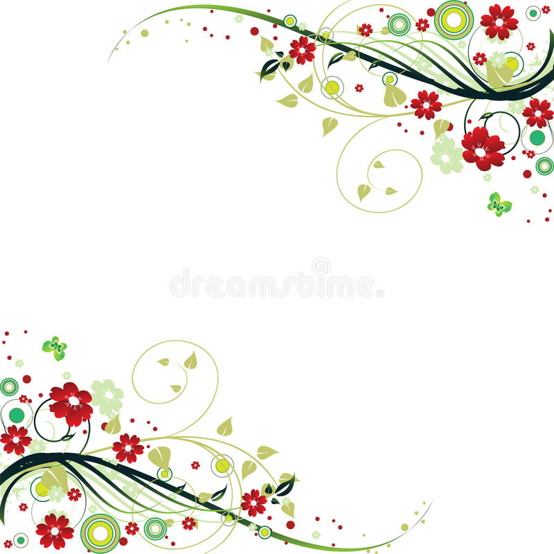 Download Floral Frame stock vector. Image of backgrounds, color - 9910906