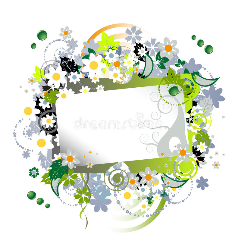 Download Floral frame beautiful stock vector. Image of element - 5829711