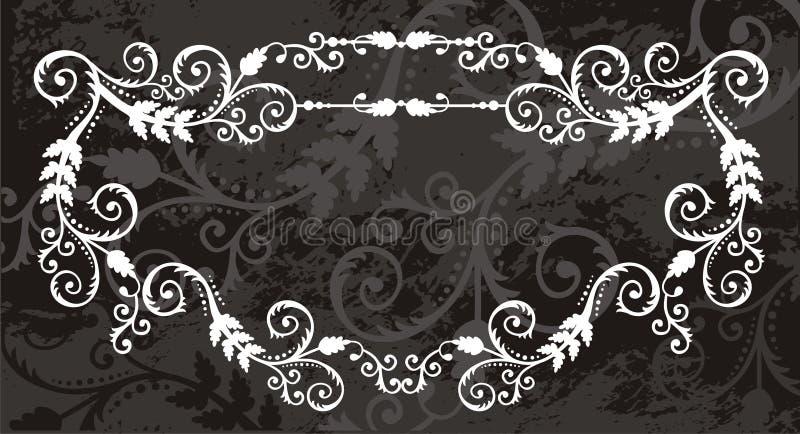 Floral frame border royalty free illustration