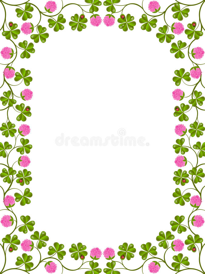 Download Floral frame with a clover stock vector. Image of season - 19929465