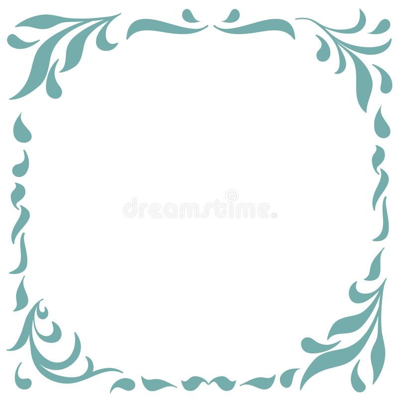 Floral Frame for design of monograms, invitations, frames, menus, labels and websites. Graphic elements for design of vector illustration