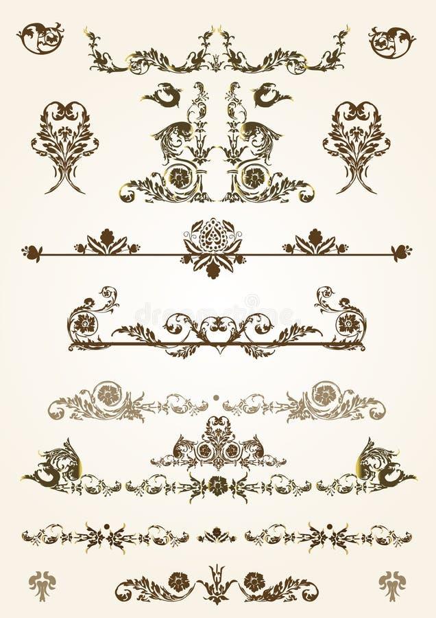 Download Floral Frame Elements stock vector. Image of border, love - 4364708