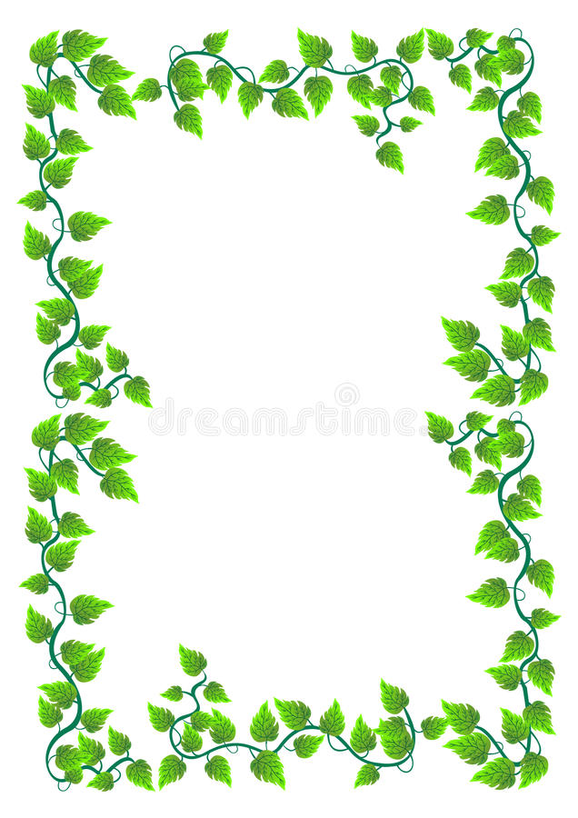 floral frame with leafs vector stock vector illustration of decorative symbol 14981369. Black Bedroom Furniture Sets. Home Design Ideas