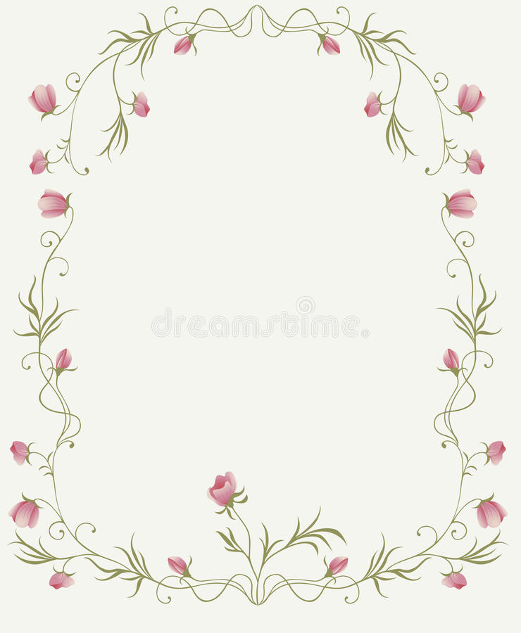 Download Floral frame with roses stock vector. Image of garland - 14744869