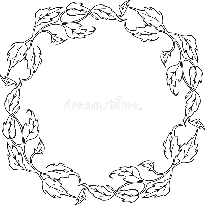 Floral frame series vector illustration