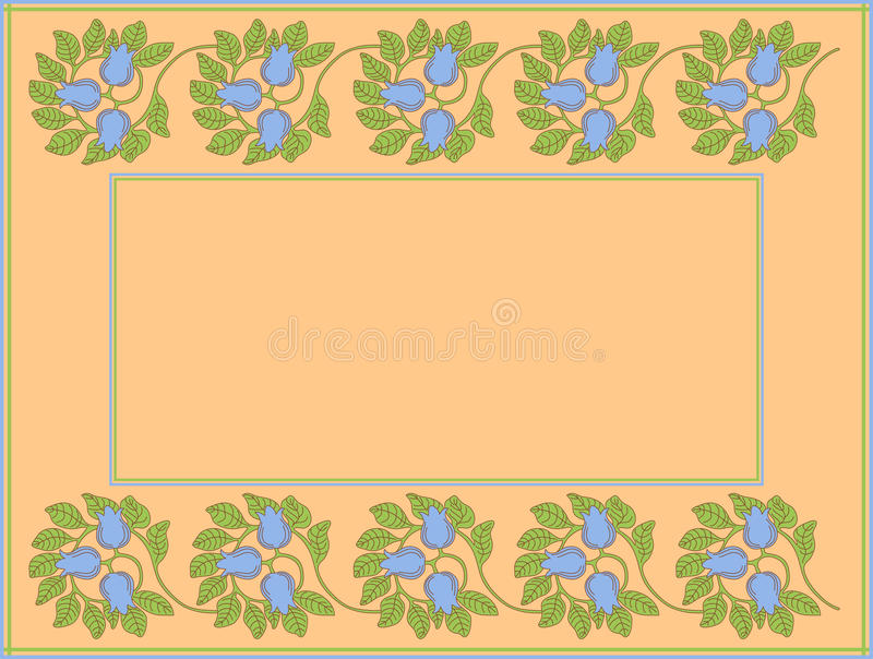 Download Floral Frame With Space For Text Or Photo Stock Vector - Illustration of decorative, elegant: 24997626
