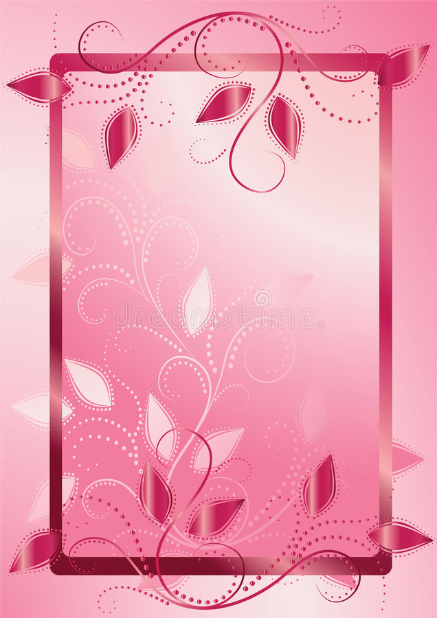 Floral frame for text stock illustration