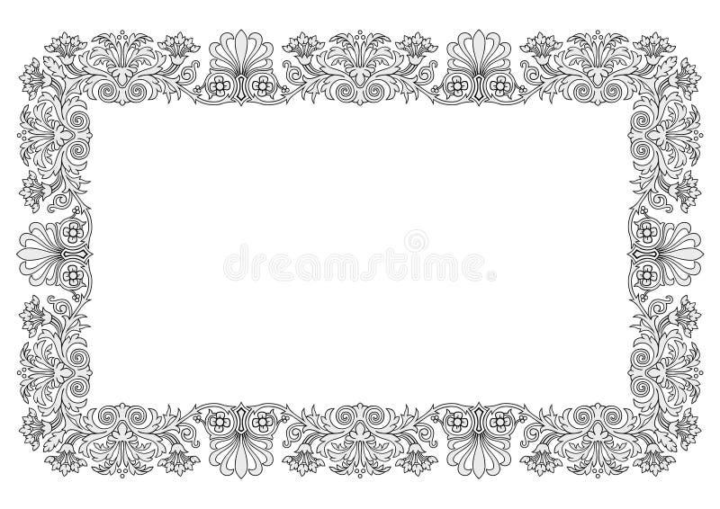 Floral frame vector vector illustration