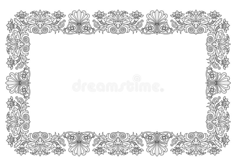 Floral Frame Vector Stock Images