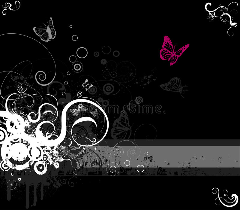 Floral frame vector-emo style. Floral decorative frame with space for text royalty free illustration