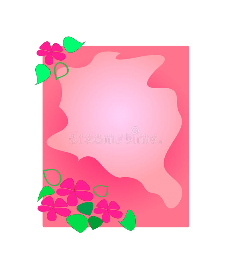 Floral frame . Vector illustration. stock photos